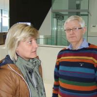 Stellvertretende Landrätin Sabine Schneider mit SPD Kreisvorsitzendem Werner Widuckel