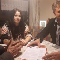 Sarah mit Werner und Armin